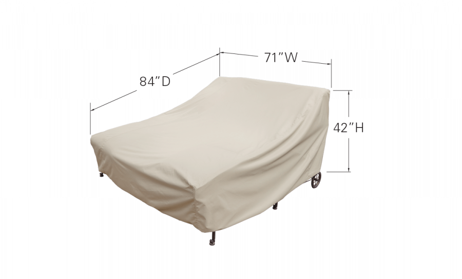 Double Chaise Lounge Dimensinos