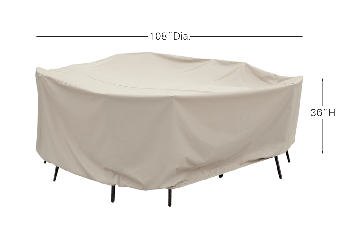 Round Table and Chair Cover Dimensions