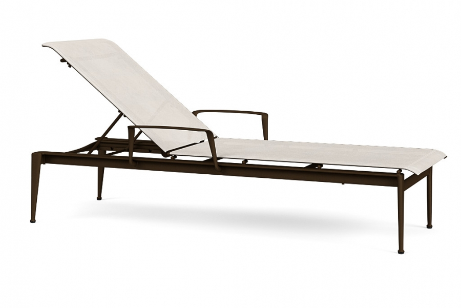 FLIGHT SLING STACK FLAT CHAISE LNG W/ARM PLATINUM/SALT AIR GR A