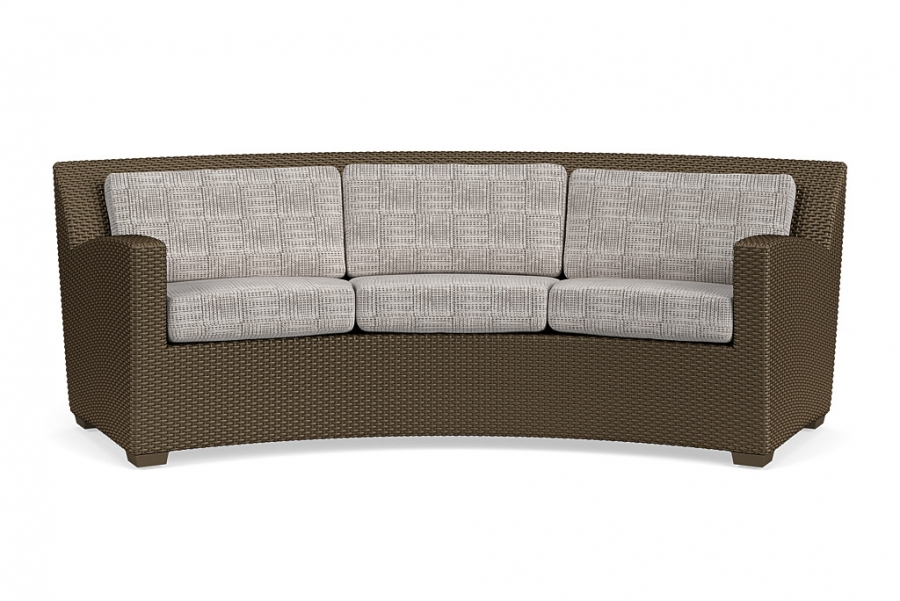 "FUSION CURVED SOFA 84"" X 31""D X 32""H SLIM BACK BRONZE/DOCK GR A"