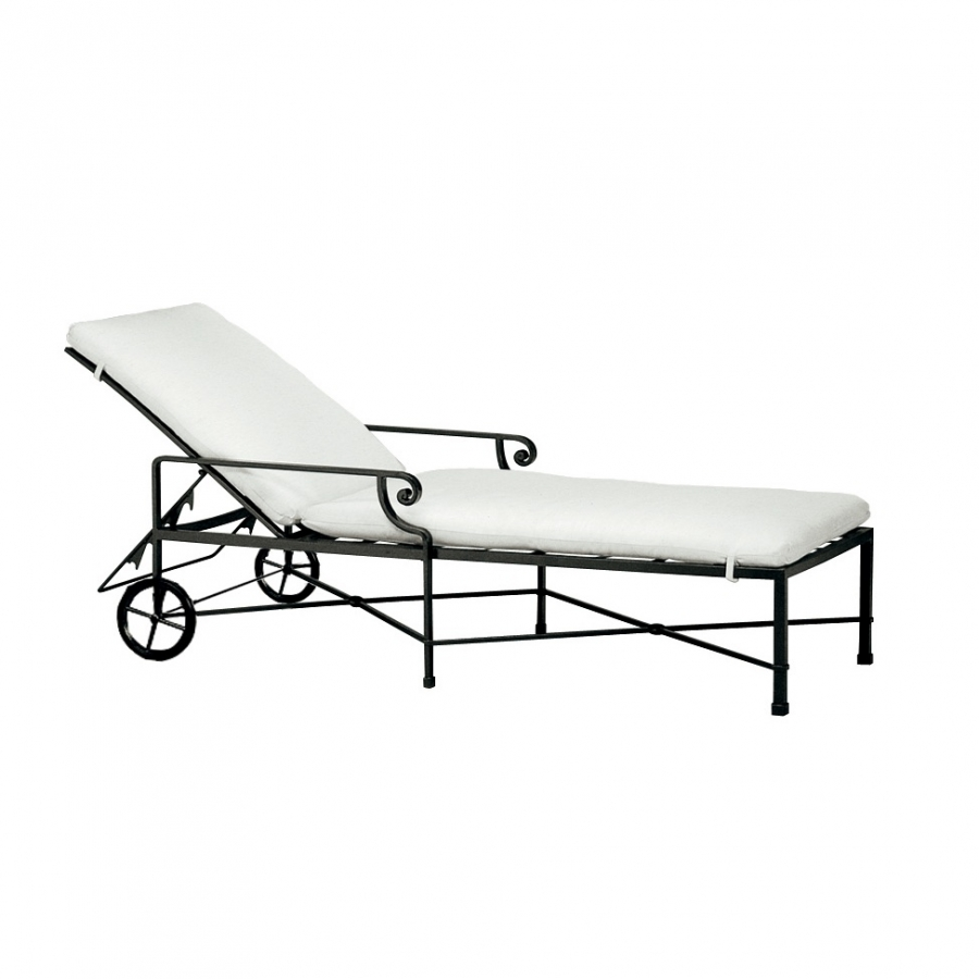 Venetian Adjustable Chaise with Wheels (grade A-B)
