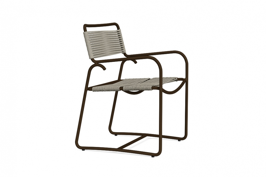 WALTER LAMB ARM DIN CHAIR MICA/PEBBLE ROPE