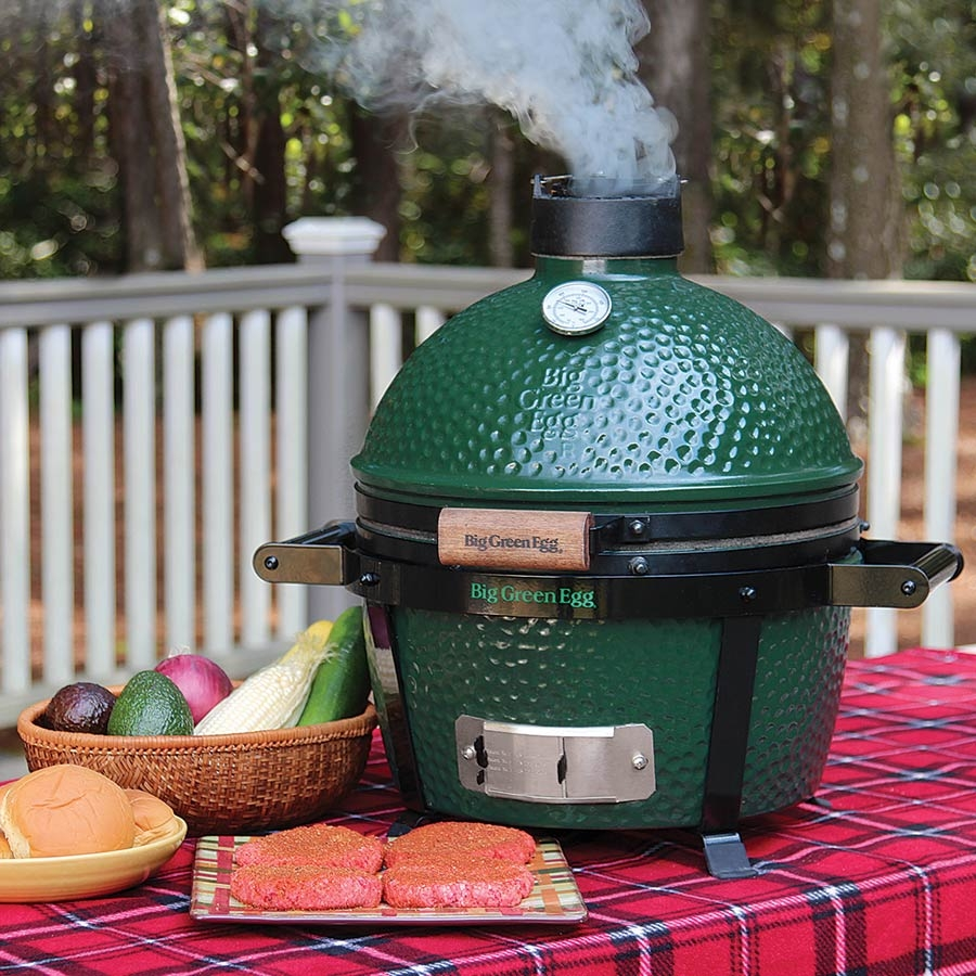 BIG GREEN EGG MINI MAX ON TABLE FROM JOPA IN RICHMOND VA